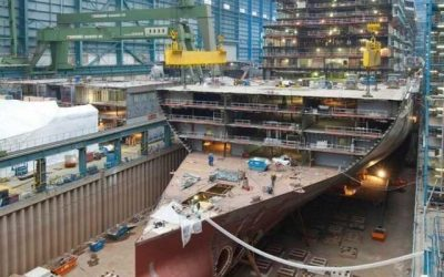 Cruise ship being built