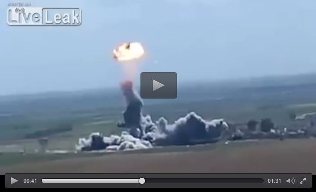 Epic Peshmerga sends ISIS bomber truck in the air, causing double explosion