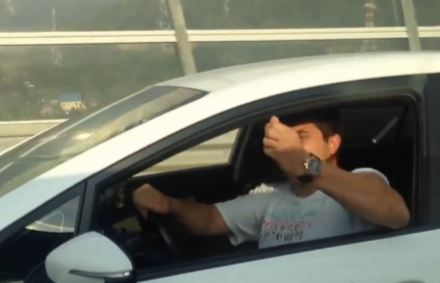 Phone flies out car window during road rage encounter