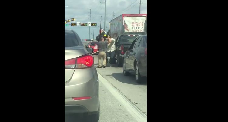 Road rage fight with bat in Austin Texas