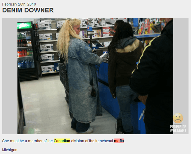 Girl angry that her mom is was on People of Walmart