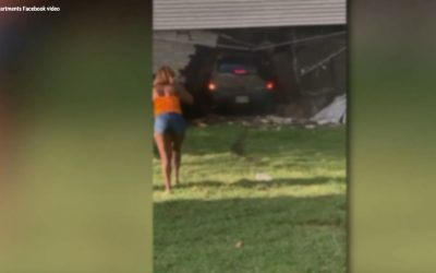 Woman rams car into cheating boyfriends apartment