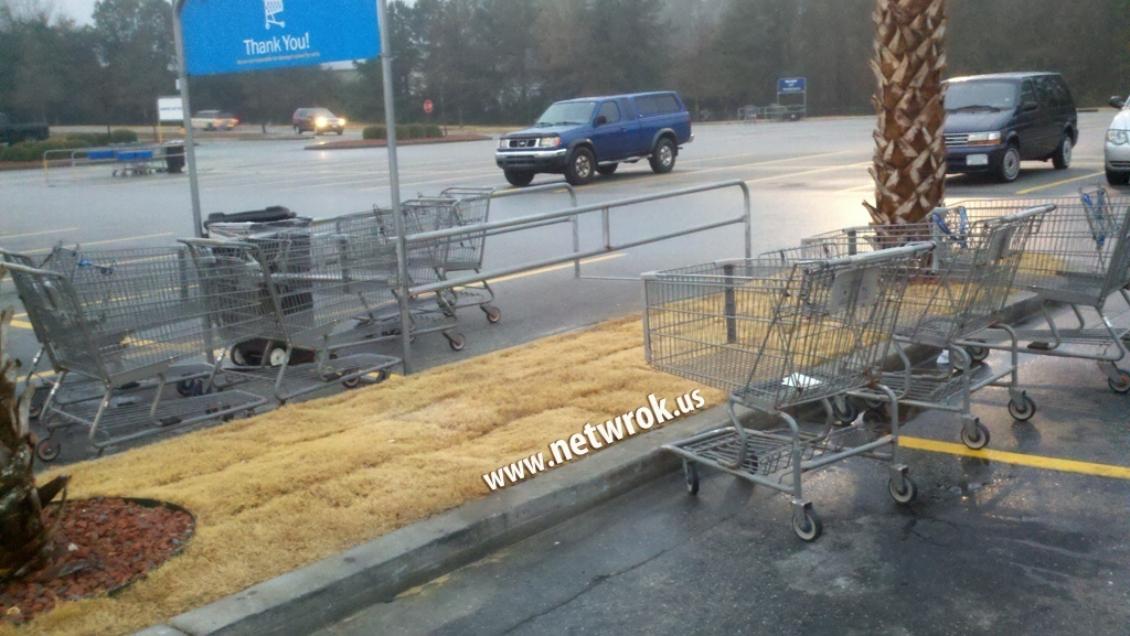 Walmart shopping carts fail