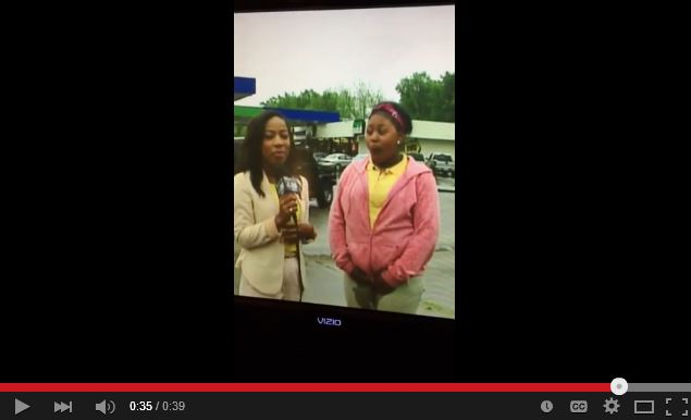 Girl pees her pants during live news interview