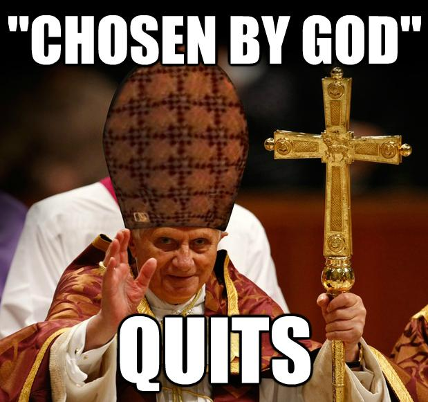 "Pope ""chosen by God"" - Quits"