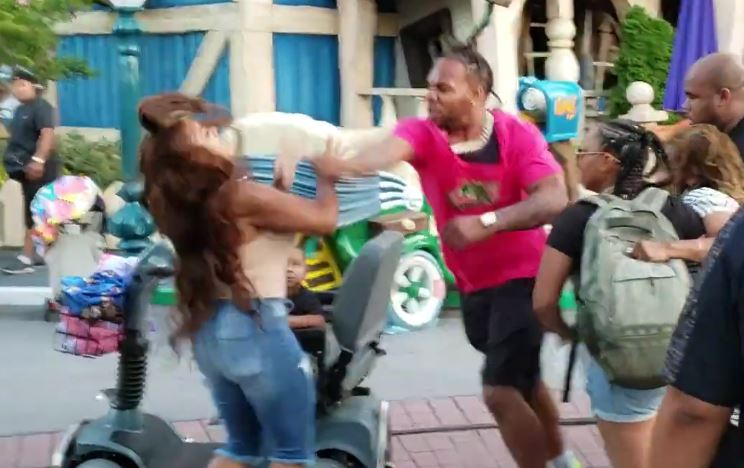 Fight at Mickey's Toontown in Disney Land [updated]
