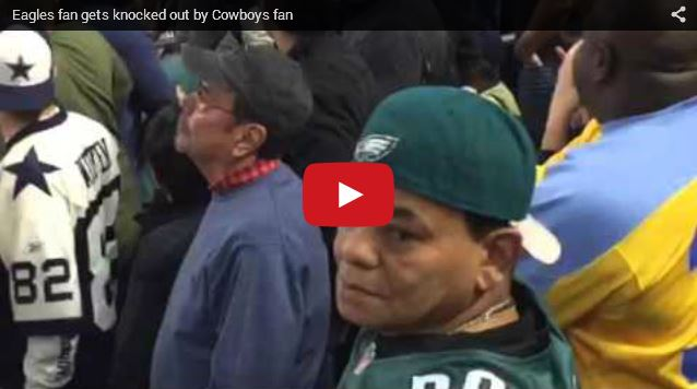 Cowboys fan knocks out Eagles fan