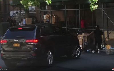 Shipping workers attacked by guy in Jeep