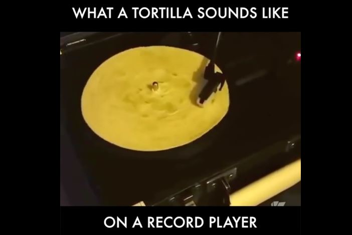 What a tortilla actually sounds like on a record player