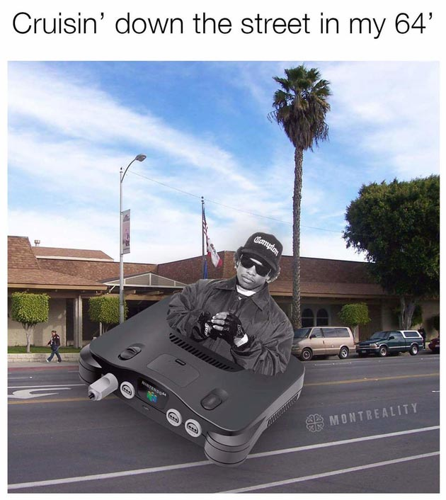 Cruisin' down the street in my '64